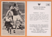West Germany v Ireland Martin Aston Villa A103 (B)
